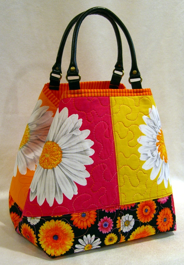 Lazy Girl Designs » 'Bucket' tote bag made with Lakehouse Fabrics