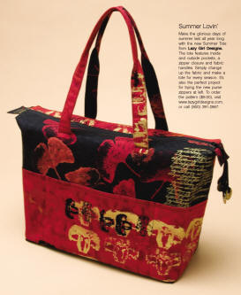 Summer Tote Sew News Magazine, Oct 2006