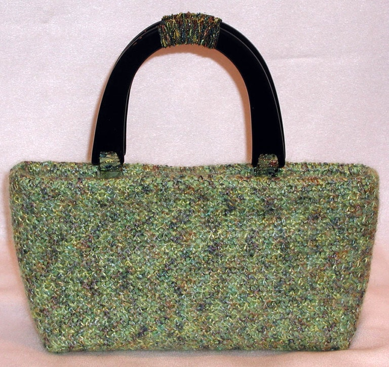 Mohair Yarn covered Chloe Handbag