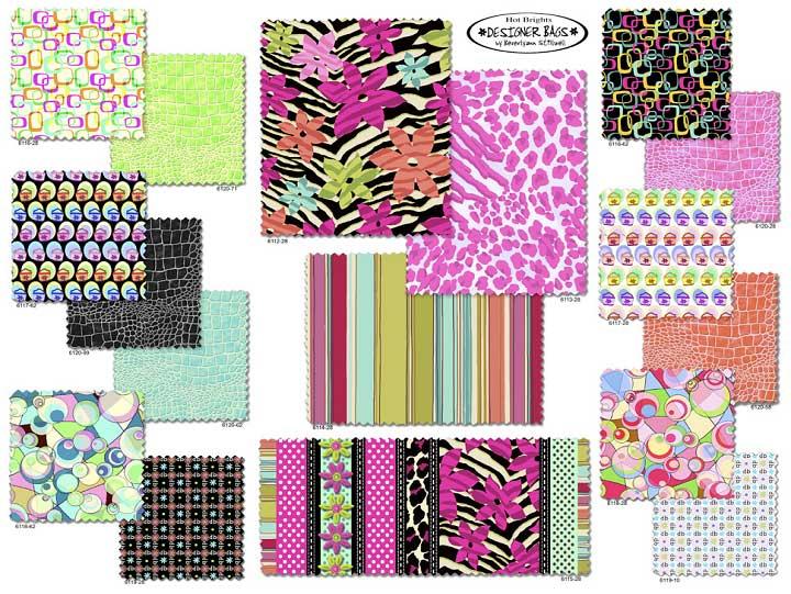 Northcott Fabrics Designer Bags hot pink card