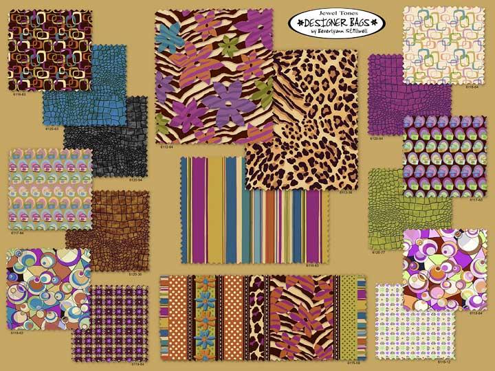 Northcott Fabrics Designer Bags jewel tone card