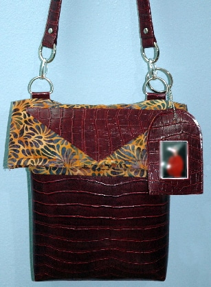 Sling Bag with picture frame fob