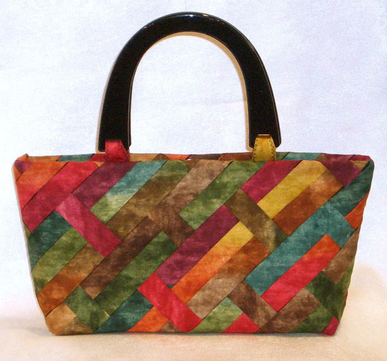 Fabric strip purses