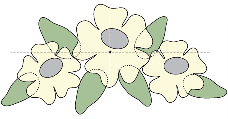 Nancy Odom Floral Applique Design