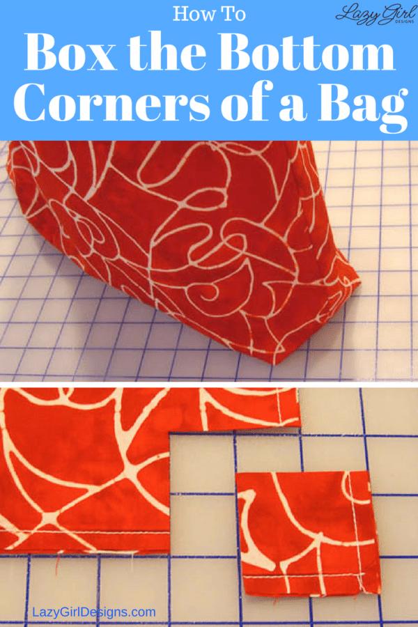box bottom bag corners