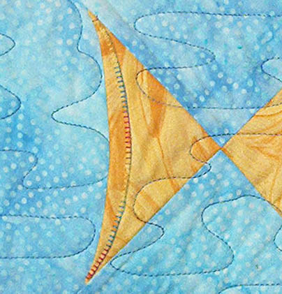 A quilted ocean of fin fully easy fish lazy girl designs for Fish tail fin