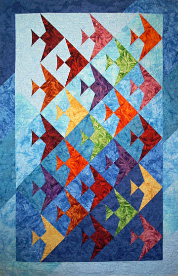 A Quilted Ocean Of Fin Fully Easy Fish Lazy Girl Designs