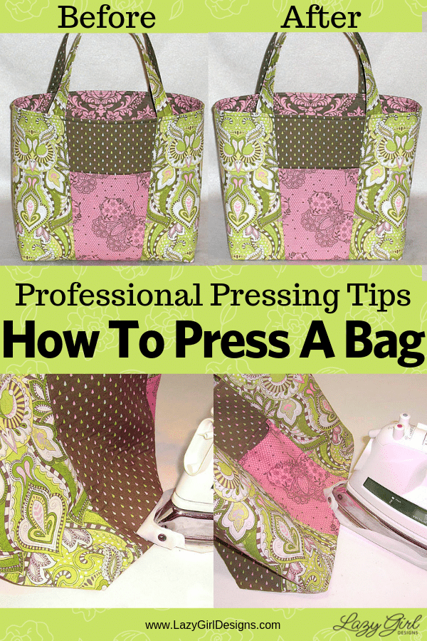 How to press a bag project