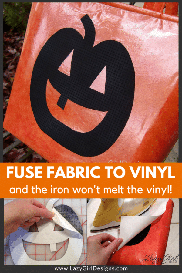 Fabric fused to vinyl without melting the vinyl