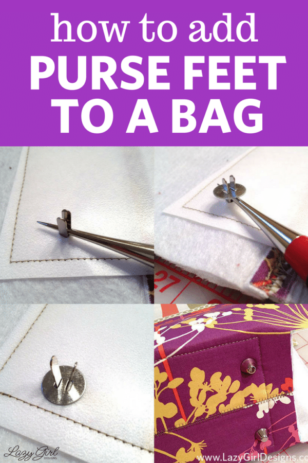 add purse feet to a bag