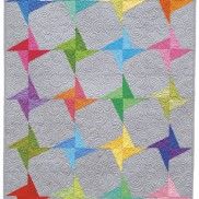 Lollipop Twist Quilt by Lazy Girl Designs