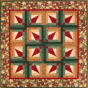 Fanfare Log Cabin Quilt by Lazy Girl Designs