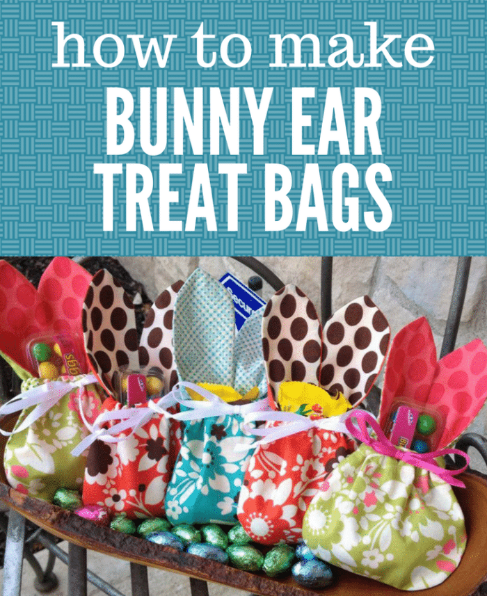 Free Tutorial: Easter Bunny Ear Treat Bag