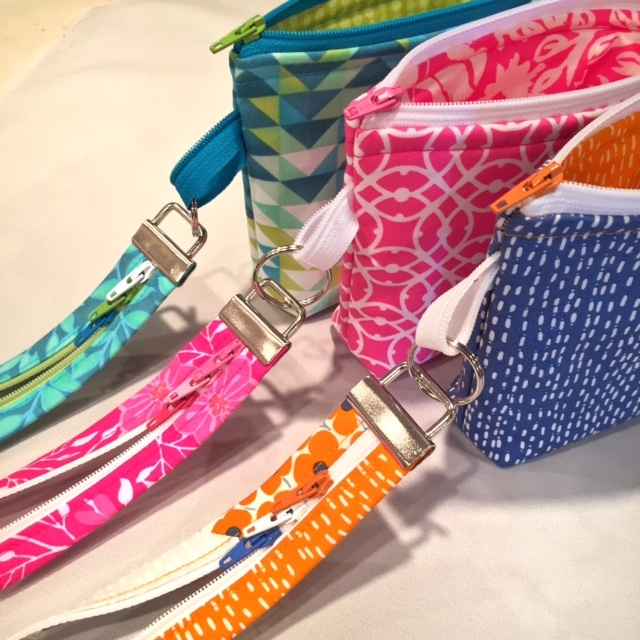 Make a wristlet with a Fobio key fob and small Becca Bag by #LazyGirlDesigns