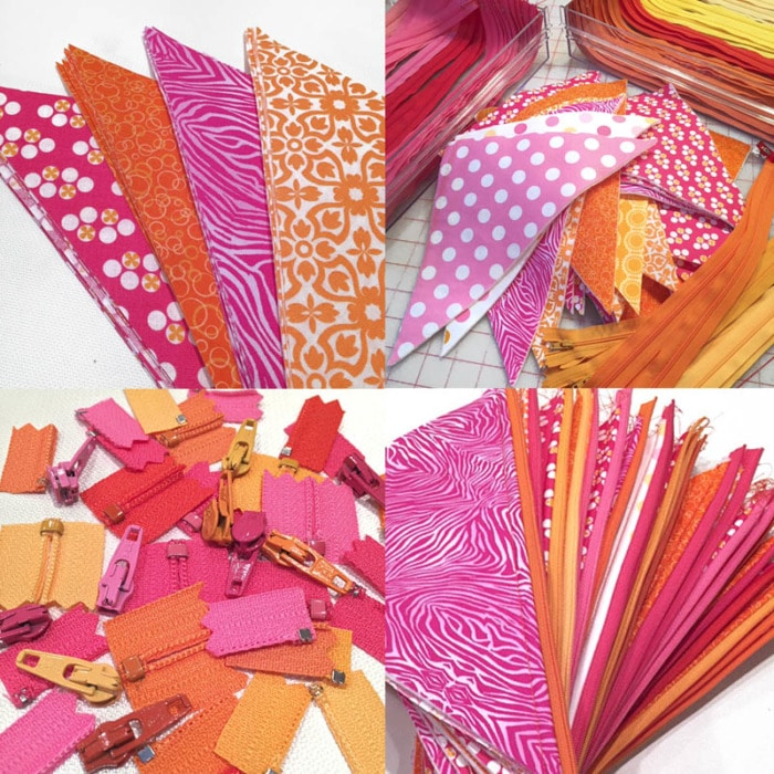 Small zipper pouches to hold candy or treats for quick gifts.