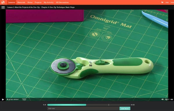 Zip rotary cutter