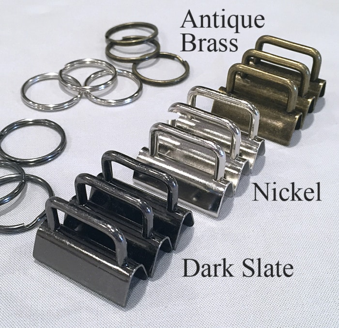 Key Fob Hardware Finishes from Lazy Girl Designs