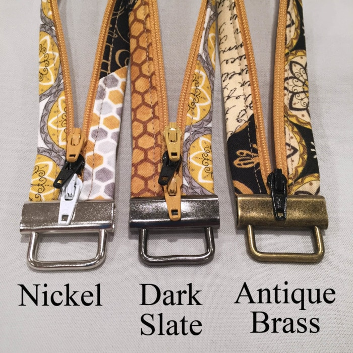 Lazy Girl Designs key fob hardware, different finishes available.