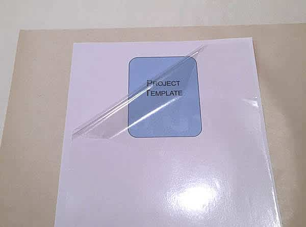how to laminate paper with fusible glossy vinyl