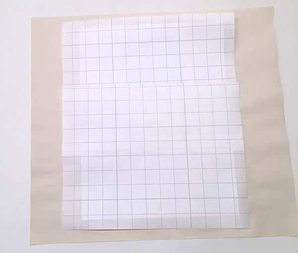 use two sheets of paper backing for pressing sheets