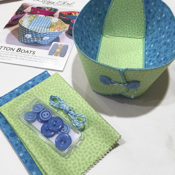 Button Boats sewing pattern with buttons