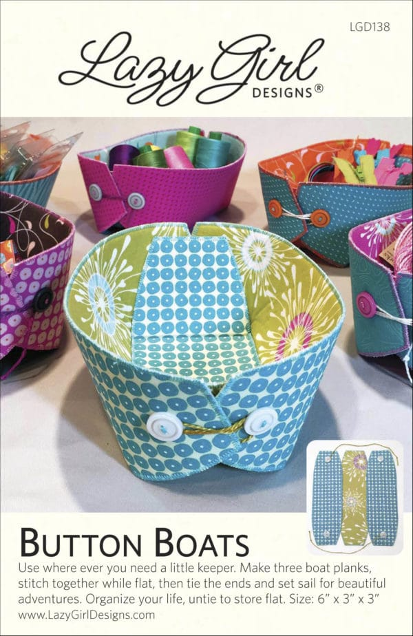 Picture of the Button Boats sewing pattern by Lazy Girl Designs