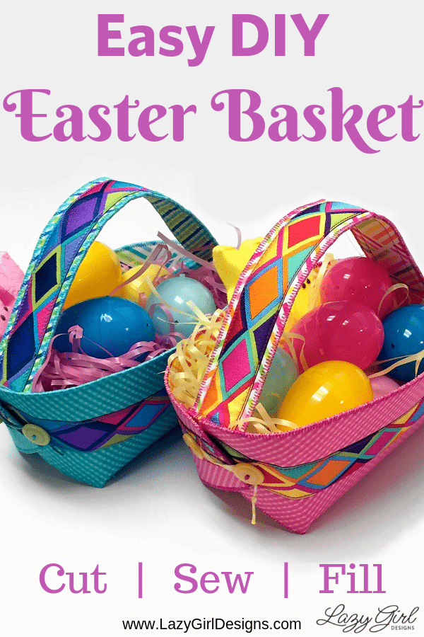 Close up picture of Easter Basket filled with grass and plastic eggs.
