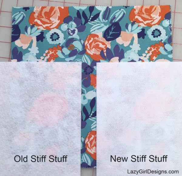 Stiff Stuff firm sew-in interfacing to add structure to purse, bag, and tote projects