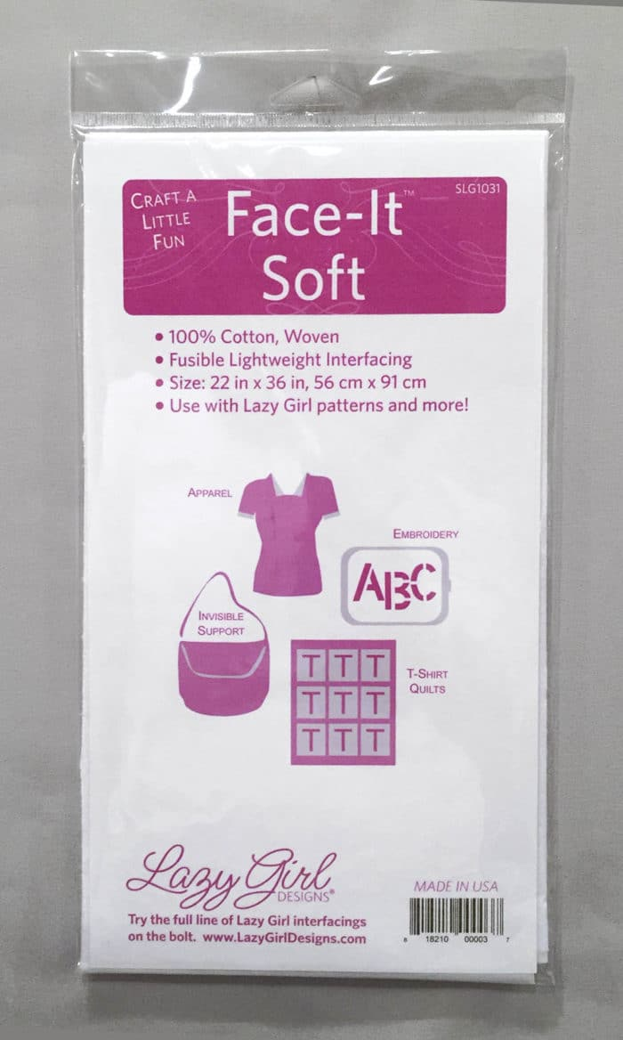 Package of Face-It Soft woven fusible interfacing