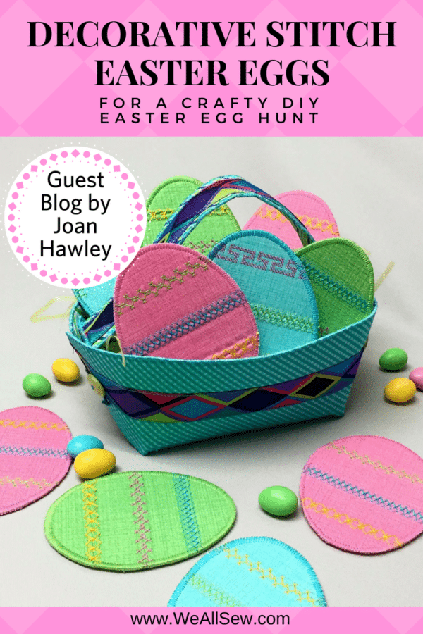 Decorative Stitch Easter Eggs for a crafty DIY Easter Egg Hunt