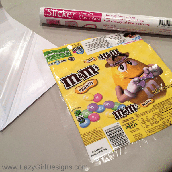 Laminate Candy Wrappers for DIY Crafts