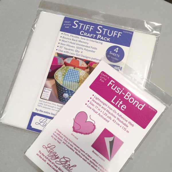 Stiff Stuff interfacing, Fusi-Bond Lite interfacing, and Face-It Soft interfacing are used to make easy DIY Decorative Stitch Easter Eggs.