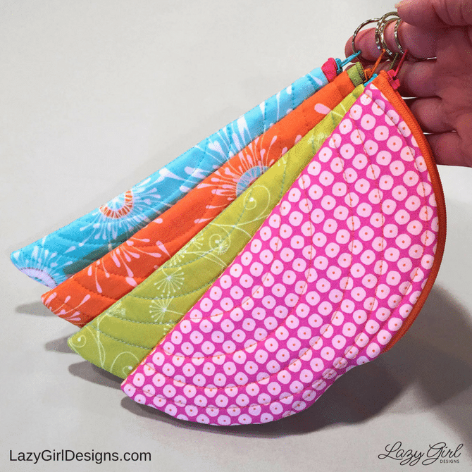 small zipper pouches with split rings