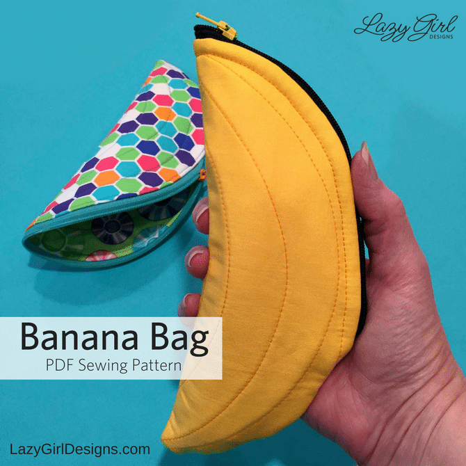 banana shaped zipper pouch