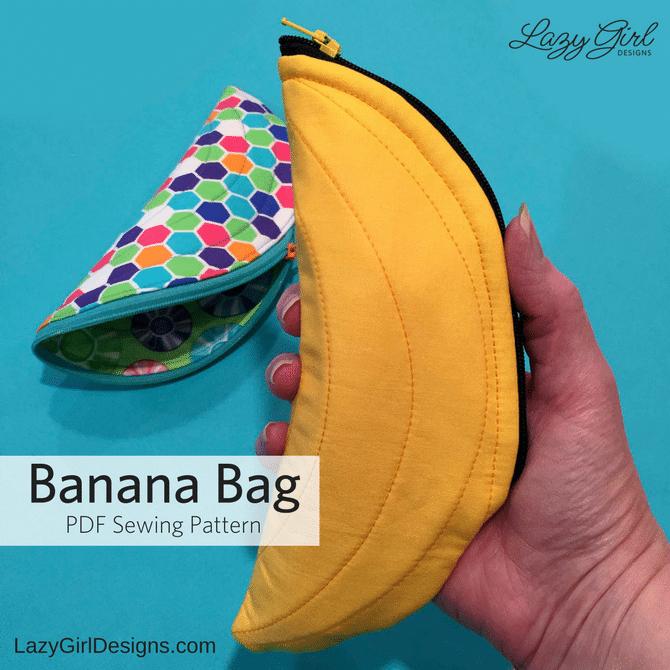 banana shaped zipper pouch