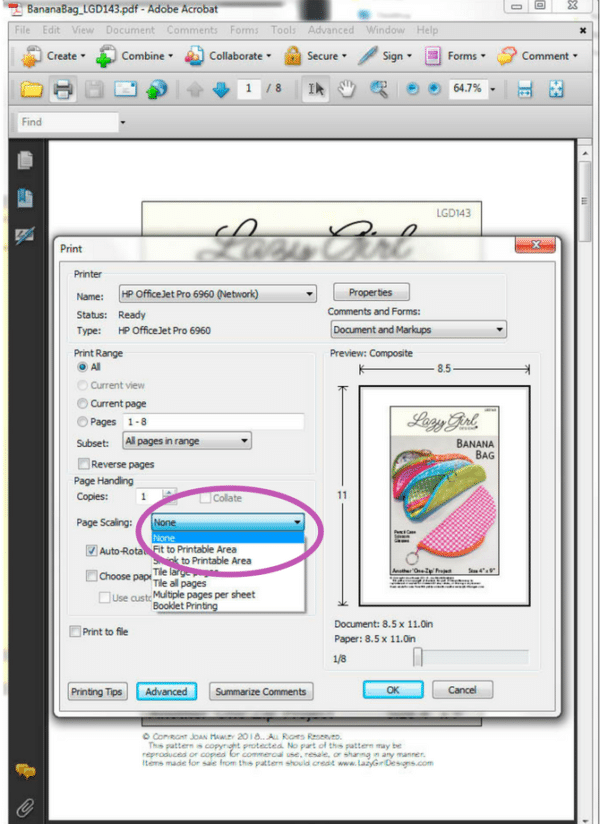 select print settings in adobe reader