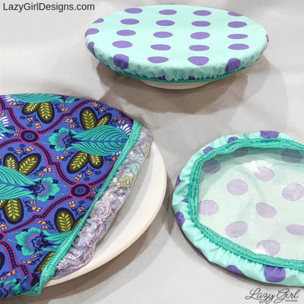 sewing pattern for reusable bowl and plate cover