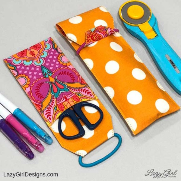 sewing pattern for small fabric case for pencils, tools