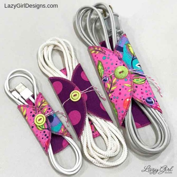 sewing pattern for cord keeper cord organizer