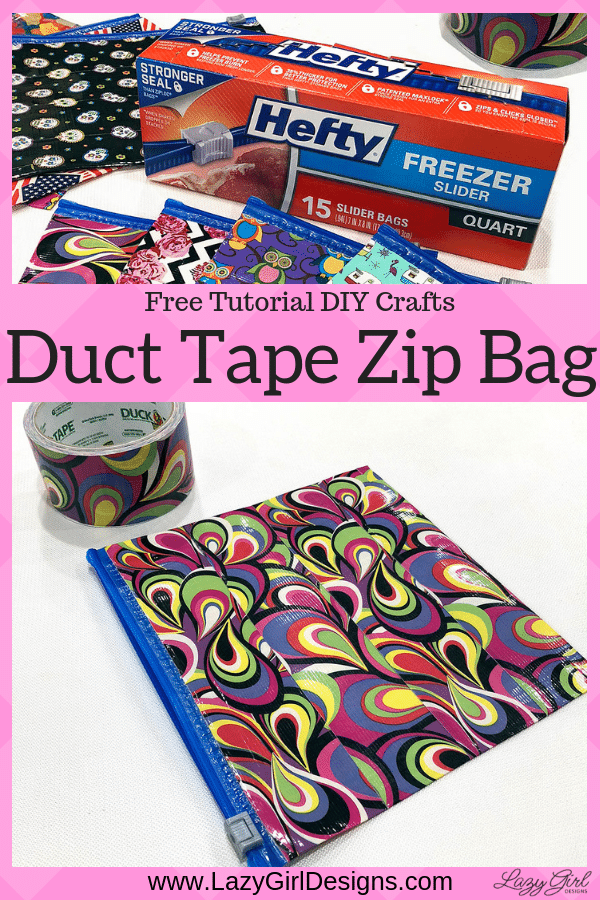 duct tape zip food bags