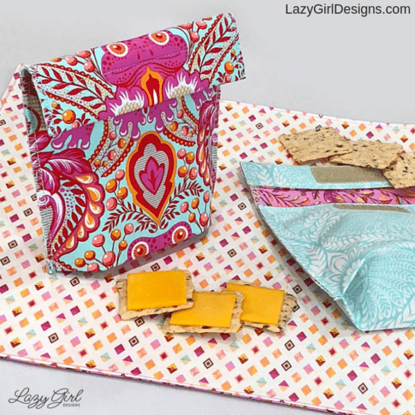 sewing pattern for small reusable snack pouch
