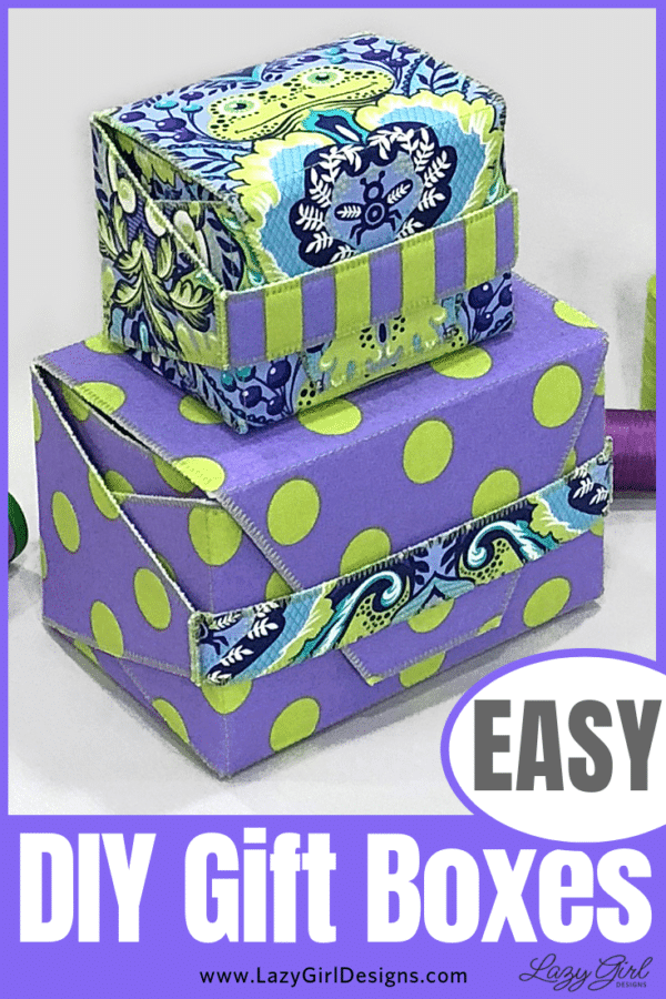 Stacked DIY gift boxes
