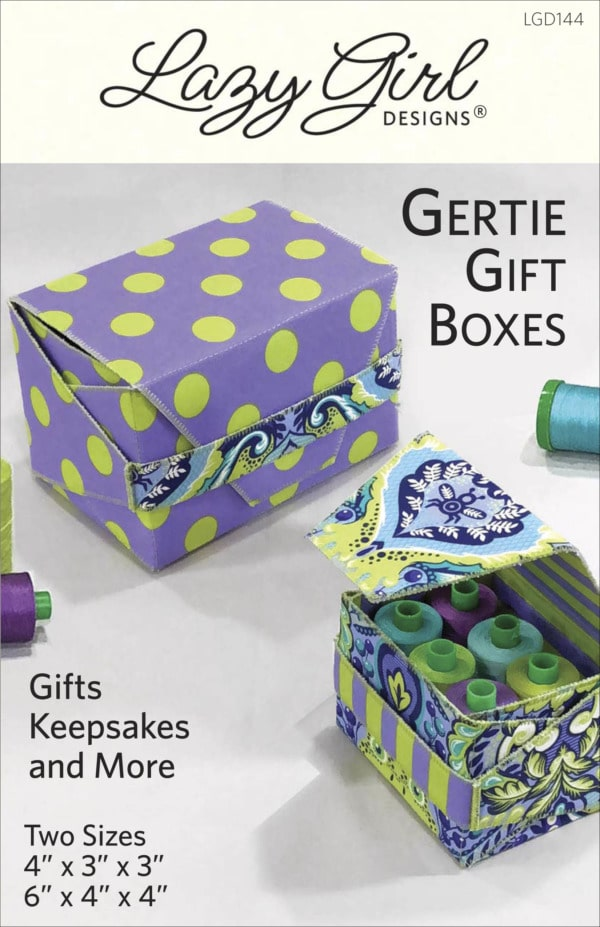 Gertie Gift Boxes sewing pattern front cover