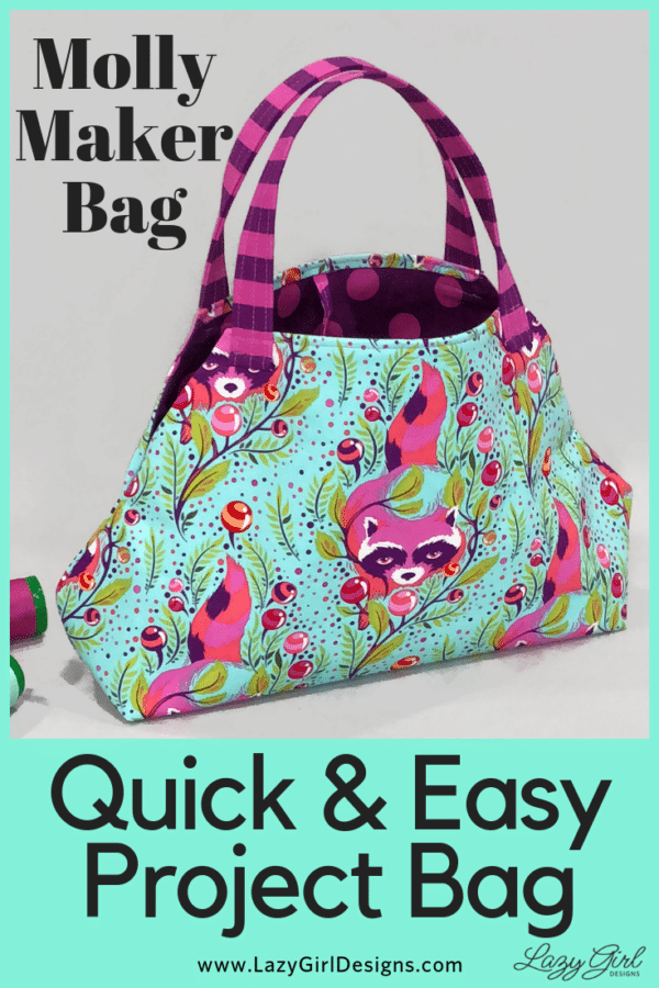 Easy project bag sewing pattern