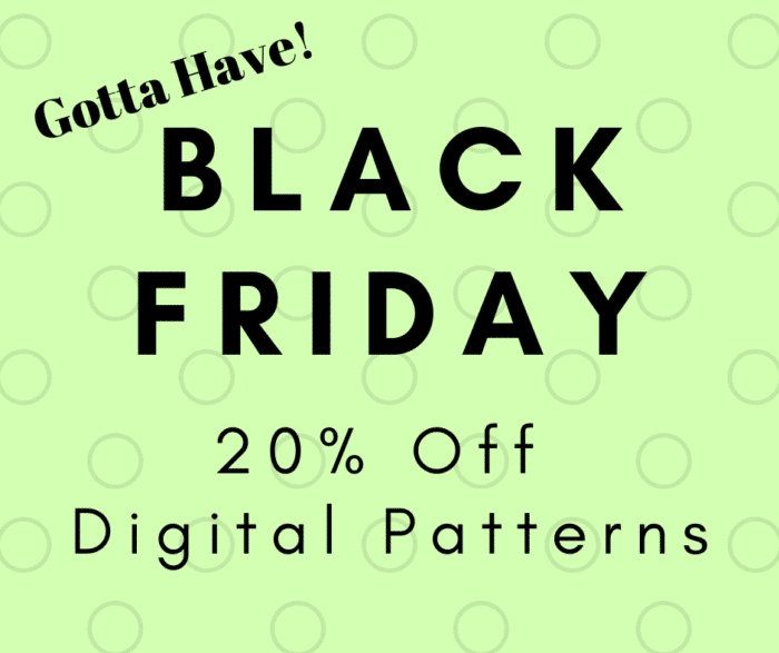 Black Friday 2018 pattern sale for Lazy Girl Designs