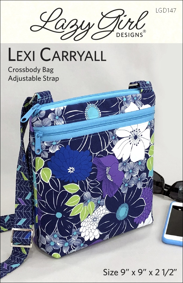 Pattern cover for Lexi Carryall crossbody bag.