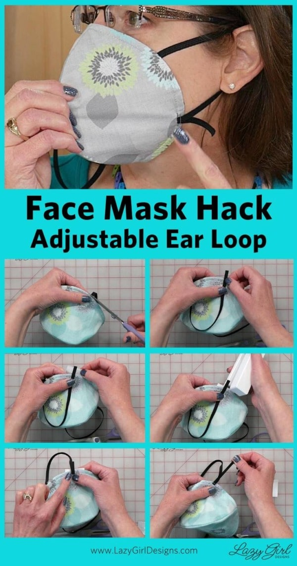 Step by step video tutorial for face mask ear loops