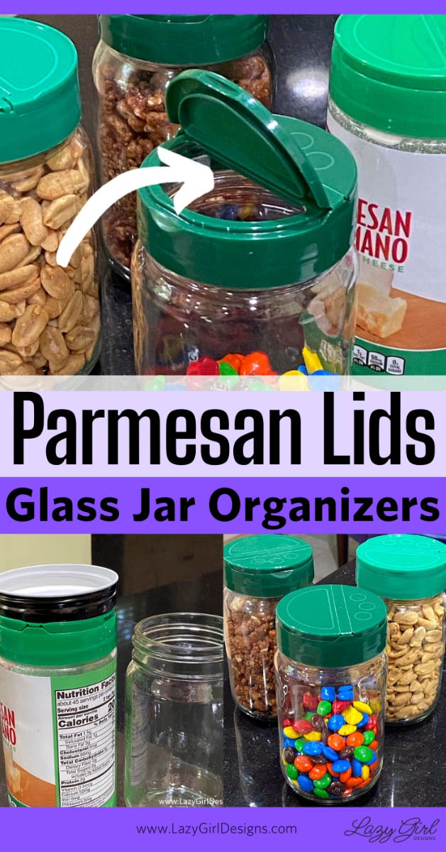Many jars with shaker top lids